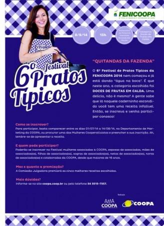Convite Festival de Pratos Típicos 2014